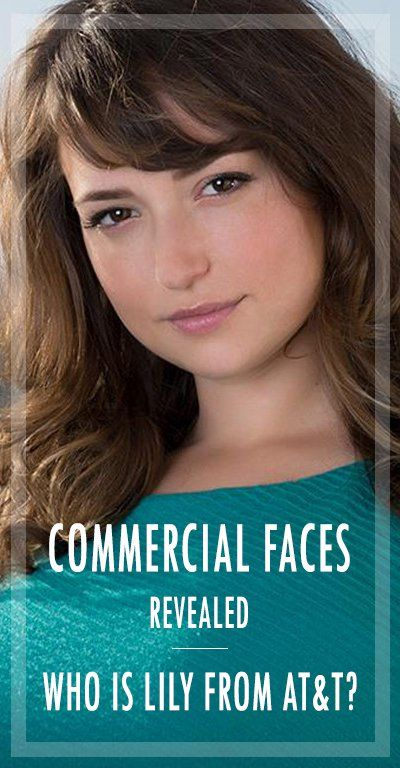 commercial faces revealed who is lily from at t tv commercials