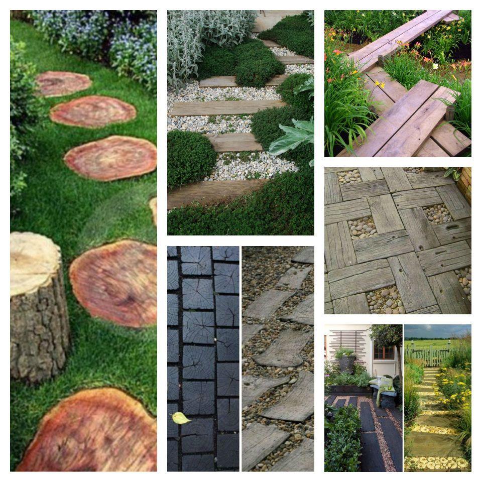 27 ιδέες με ξύλινα μονοπάτια κήπου για να είστε πιο κοντά στη φύση