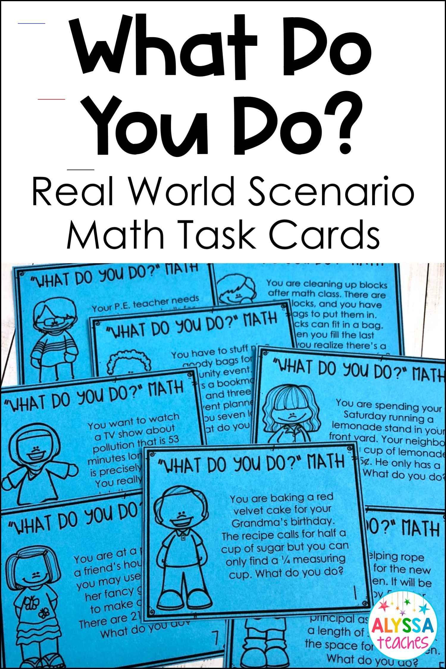 Real World Math Task Cards 4th Grade 5th Grade
