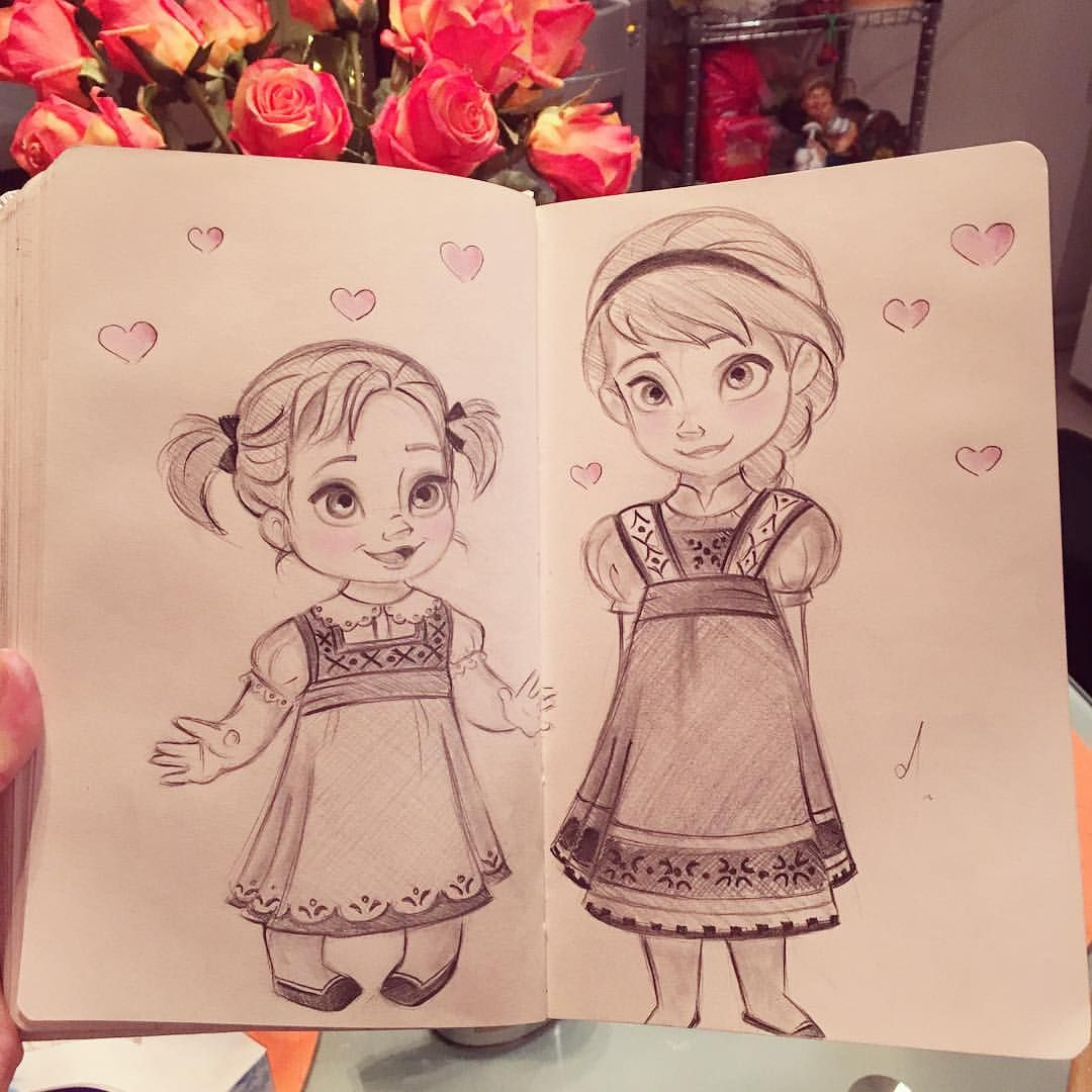 ديانا On Instagram Sketch Frozen Elsa And Anna Frozenart In 2020 Cute Drawings Disney Drawings Cute Disney Drawings