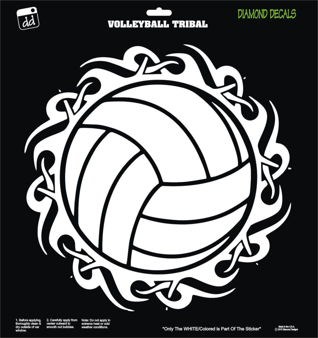 Volleyball Tribal Womens College Dig Ncaa Decal Vinyl Sticker Car Truck Laptop Suv Window Diamond Decals Vinyl Sticker Tribal