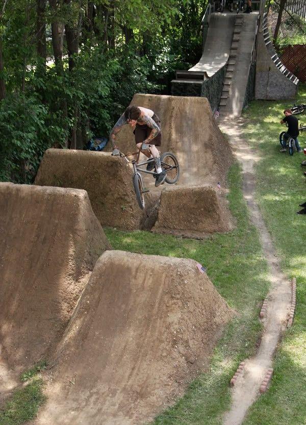Pin By Bryan Rutishauser On Backyard Ideas Bike Trail Riding