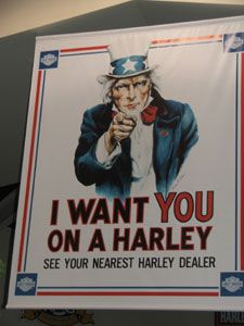 I want you on a Harley