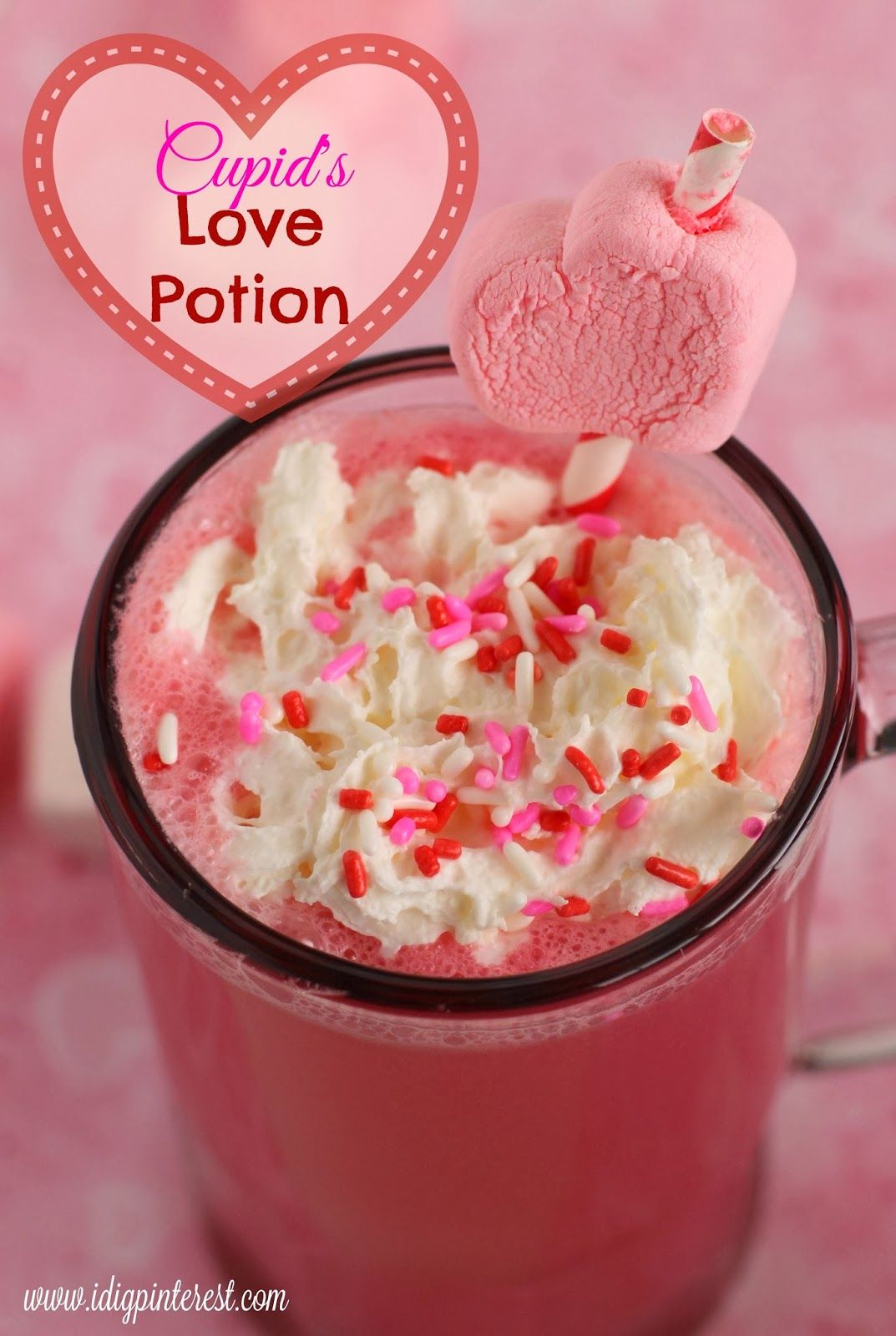 Valentine Cocktail Recipes: Cupid's Love Potion Valentine's Drink (Non-Alcoholic