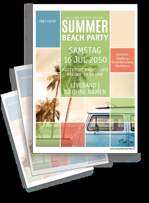 Sommerfestplakat In 2020 Summer Beach Party Grafik Design Flyer