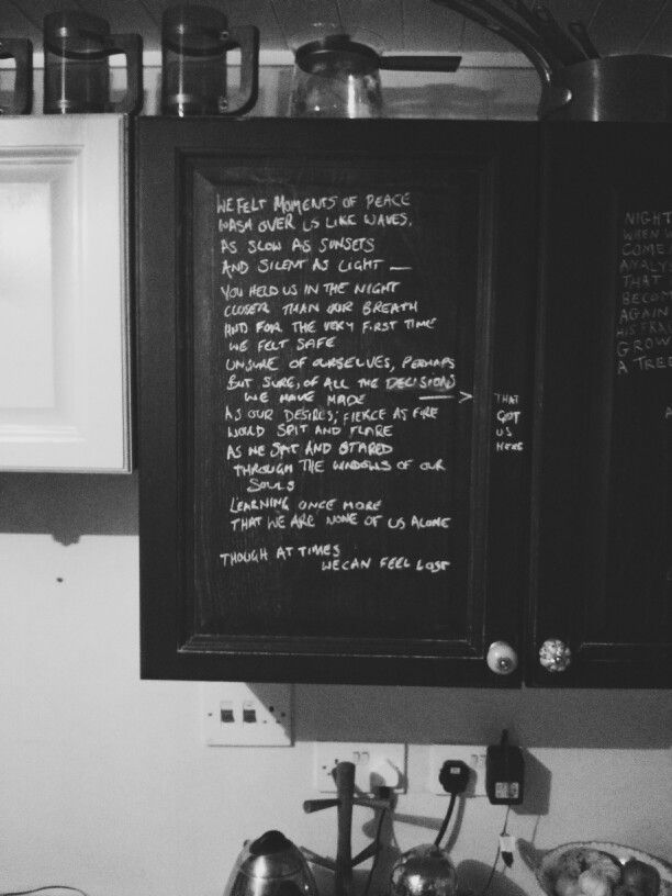 Scattered words : chalkboard kitchen cabinets - by Richard ...