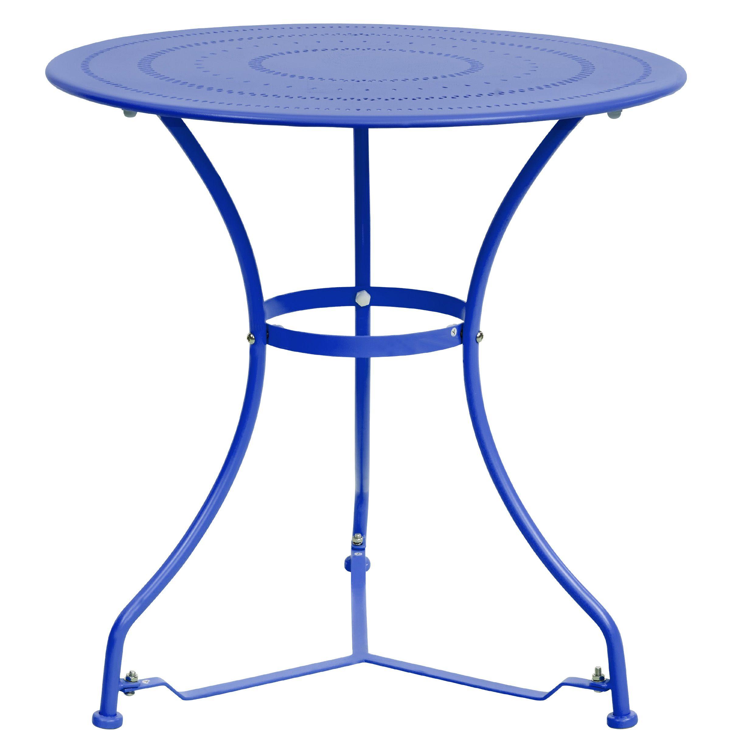 Bei Butlers Gesehen Bistrotisch Gartentisch Rund In Blau