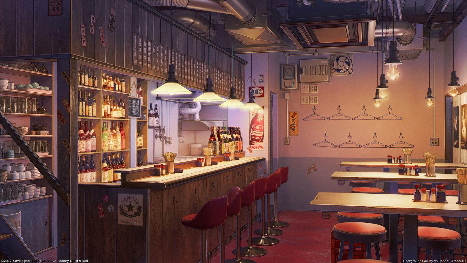 Bar and Club, Arseniy Chebynkin on ArtStation at https