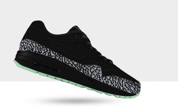 Nike Air Max 1 iD Glow in the Dark Elephant Print Available
