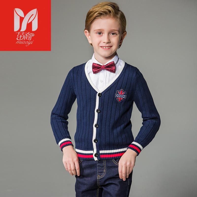 c98feceeab71 Autumn Children clothing boy formal knitting cardigan 2017 new kids ...