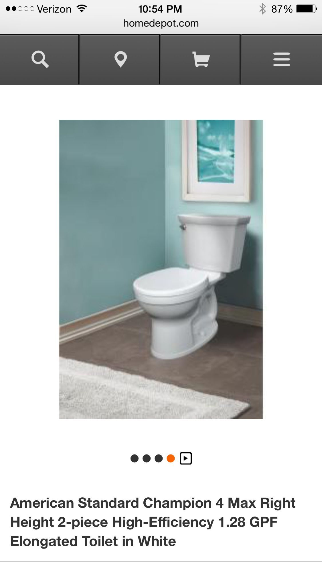 Home Depot new American standard toilet Amir\'s bathroom ...