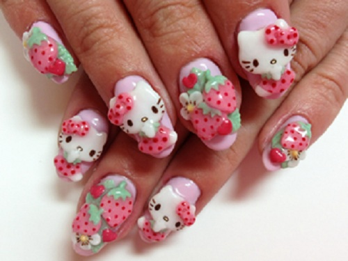 Amazing 3d nail art designs hello kitty nails 3d and hello kitty amazing 3d nail art designs prinsesfo Images
