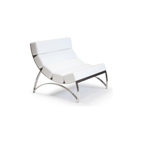 Arctic5 Modern Lounge Chair Lexi White Liked On Polyvore