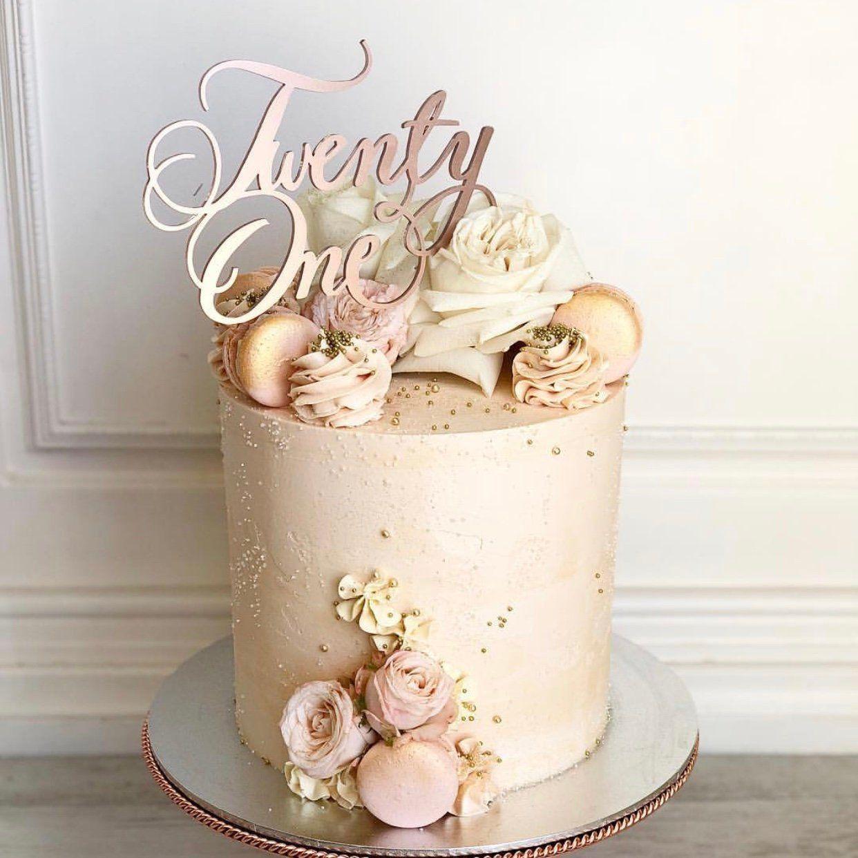 Twenty One cake topper - - Custom cake topper - Birthday decor- Twenty One birthday Cake topper - Cake decoration #21stbirthdaydecorations