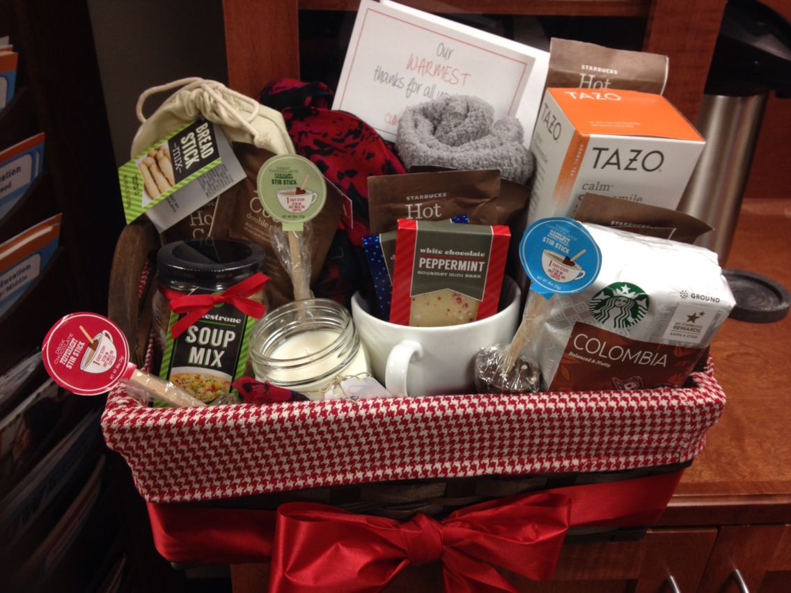 Farewell ideas for coworkers -  Our Warmest Thanks Gift Basket As A Farewell To Coworker