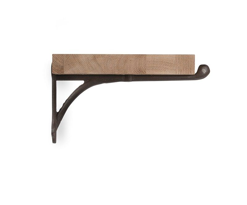Carefully Crafted From Raw Oak And Cast Iron Our Large Shelf Is The Perfect