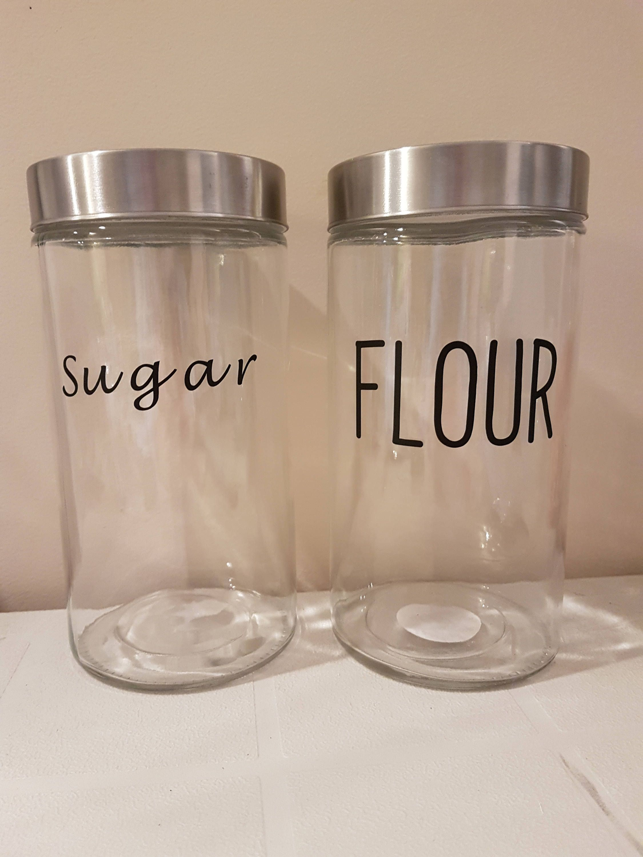 Kitchen canisters glass  Kitchen CanistersCanister DecalsKitchen Canister DecalPantry
