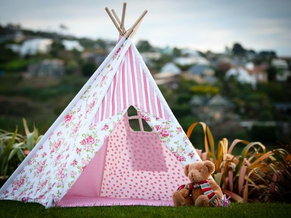 Gorgeous New Girly Girl Teepee & Teepees - Kids Play Tents - Mocka | Girly girls Girls and Babies