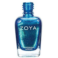 Zoya Nail Polish in Charla - tropical blue sparkling metallic