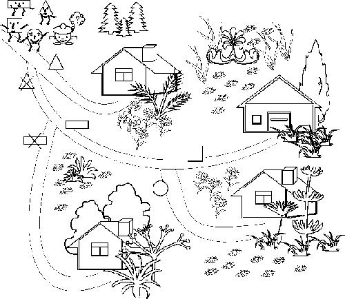 Перші правила та алгоритми: пригоди в країні Геометричних фігур. Подорож стежинками з правилами з використанням форми та логічних операцій