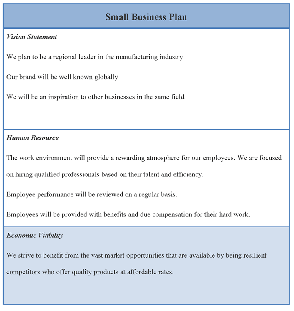 Small Business Plan Template  Download Editable Small Business