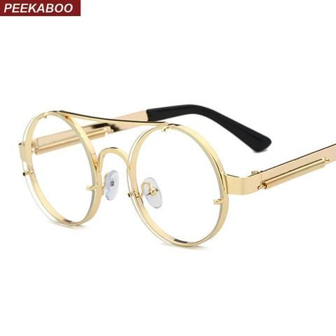 26a58d361bb4 Men Eyewear Frames. May 2019. 2018 Brand Female Frame Eyeglasses Frame Round  Goggles New Fashion Frame for Women Men prescription Metal Rimless ...