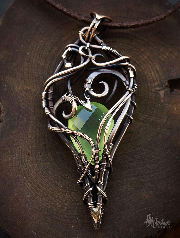 Wire wrapped pendant with quartz | Wire Jewlery | Pinterest | Wire ...