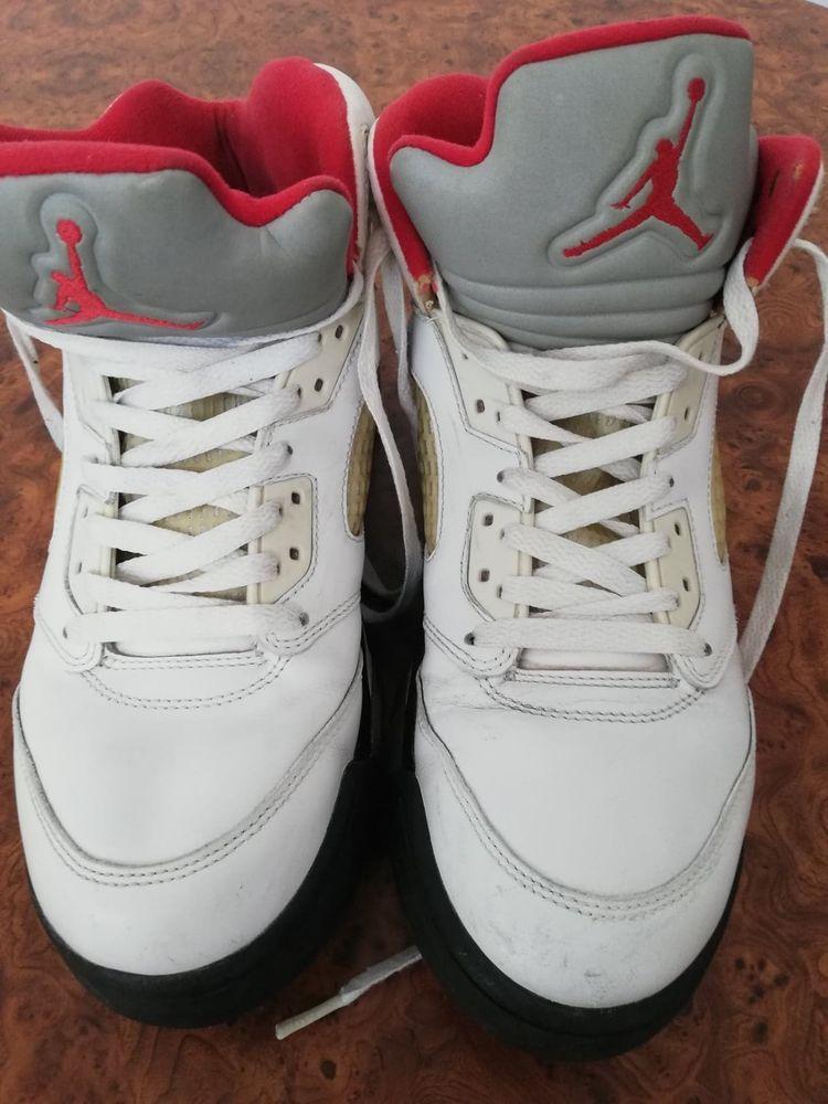 san francisco 89a0f b62c5 Air Jordan 5 Retro 5s (2013) White Fire Red-Black (9) Condition 8 10 No box   fashion  clothing  shoes  accessories  mensshoes  athleticshoes (ebay link)