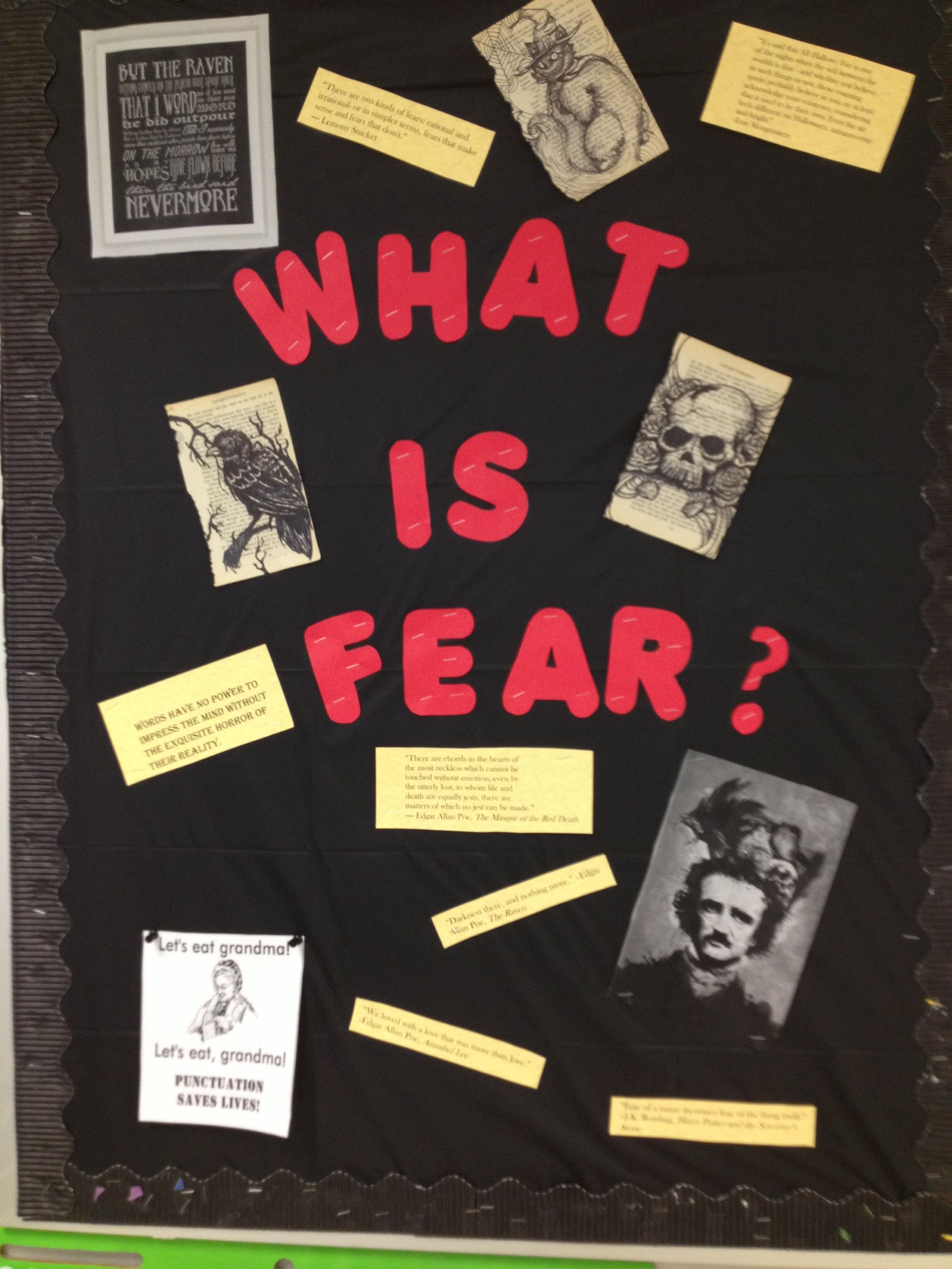 My Halloween Bulletin Board For My High School English