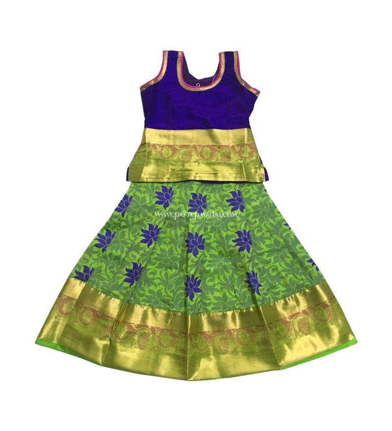 0ed15abe5 Art Silk Pavadai Set For Kids