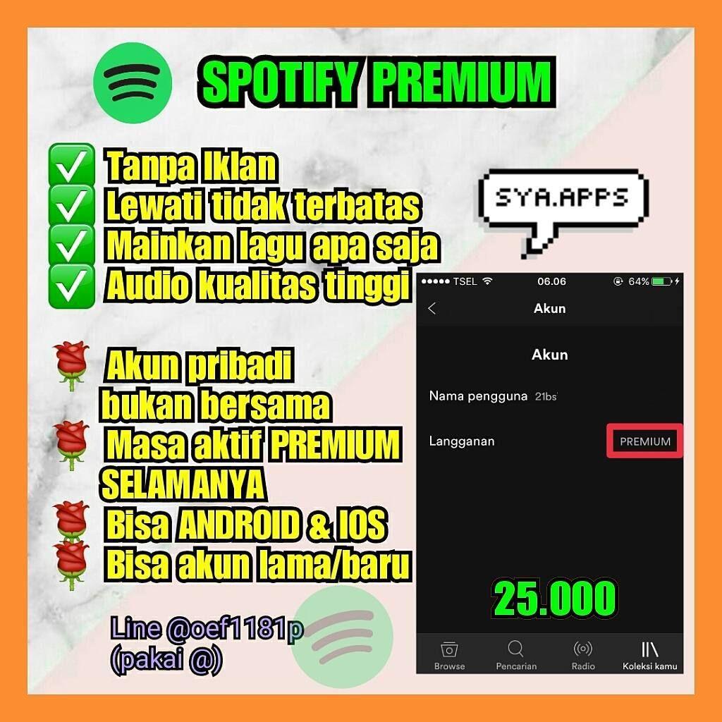 Spotify Premium 25 000 Only Termurah Harga Asli Di Spotify Nya 50rb Bln Tp Disini Udah Selamanya Loh 100 Trusted Spotify Premium Spotify Instagram Posts
