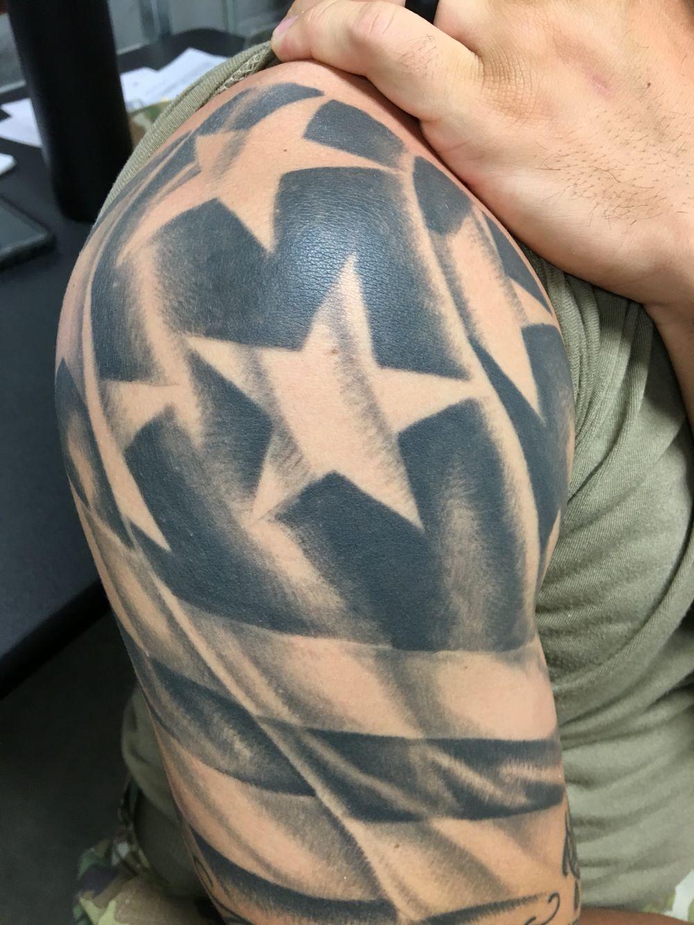Pin By Paul Woodward On Maybe Tattoo Sleeve Designs Flag Tattoo Usa Tattoo