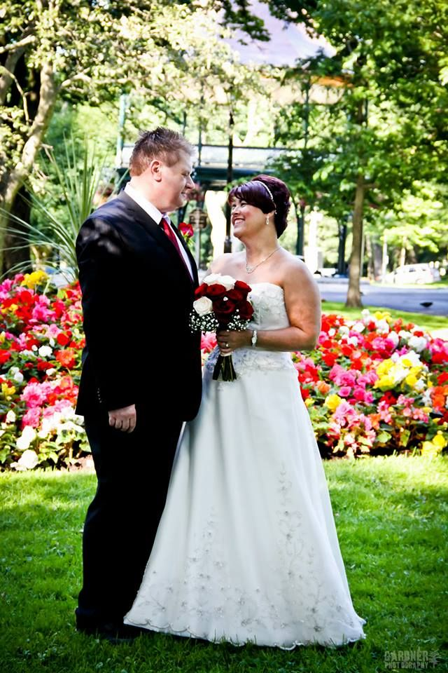King Square in Saint John is the perfect backdrop for a summer wedding shoot.
