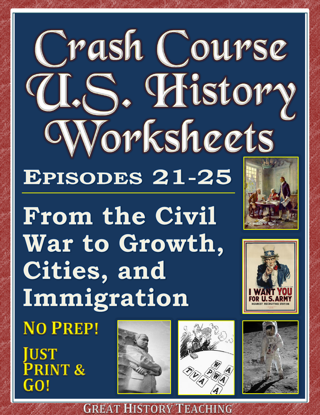 Crash Course U S History Worksheets Episodes 21 25