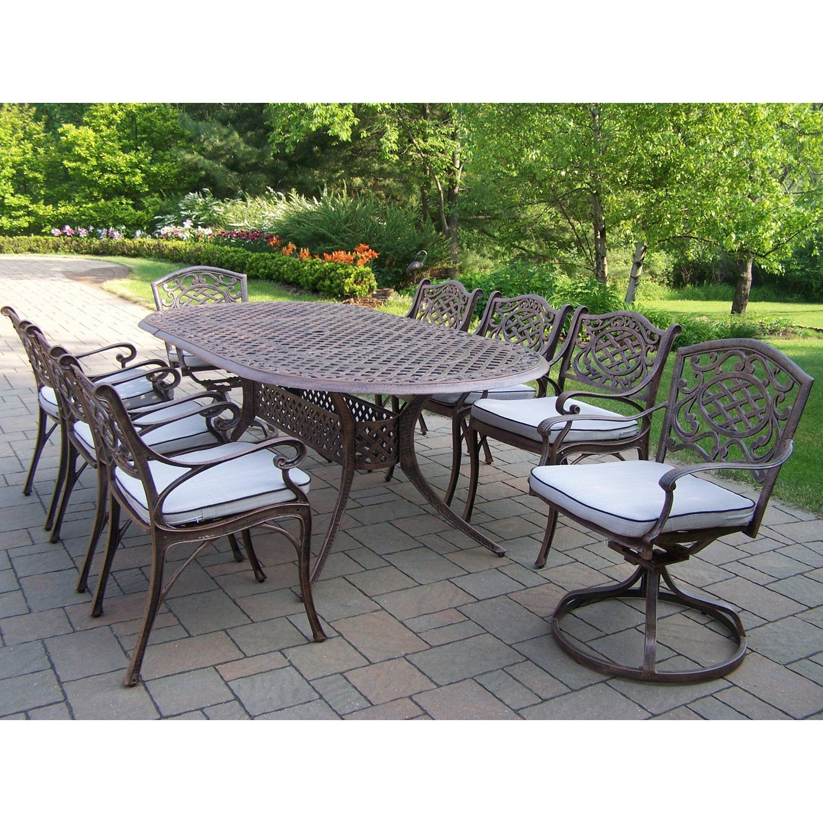 styles oval to productdetail outdoor hover furniture taupe table floral zoom home blossom dining patio htm