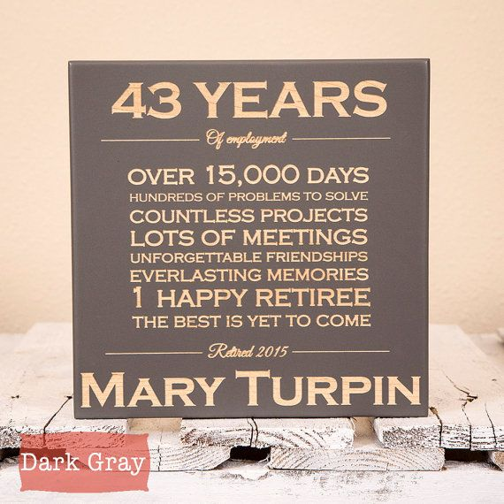 personalized retirement gift retirement