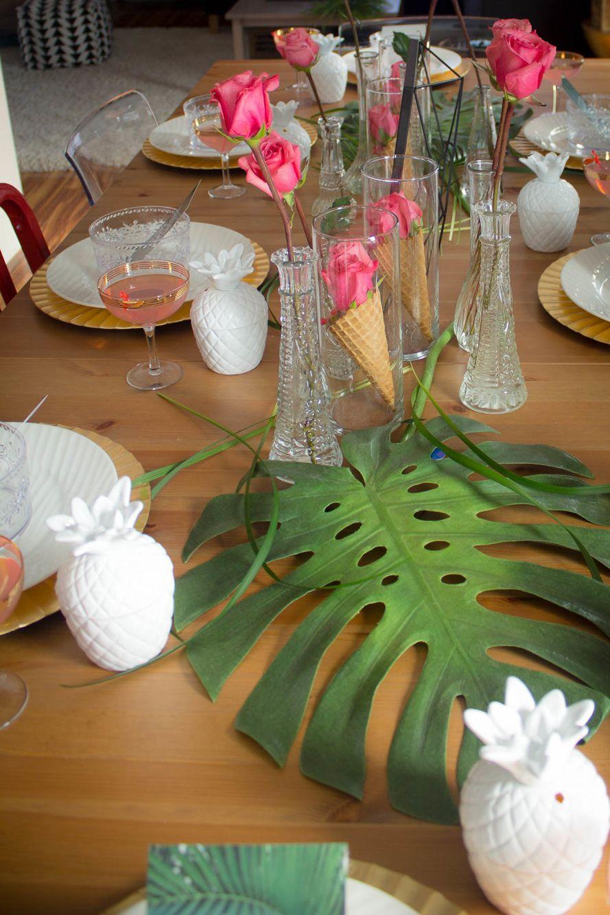 Tropical Brunch table decor