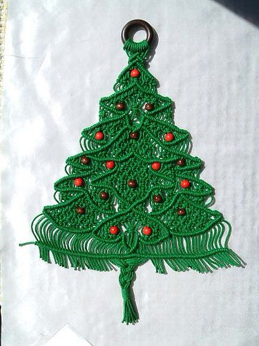 This Is An Example Of Macrame As A Christmas Tree Which