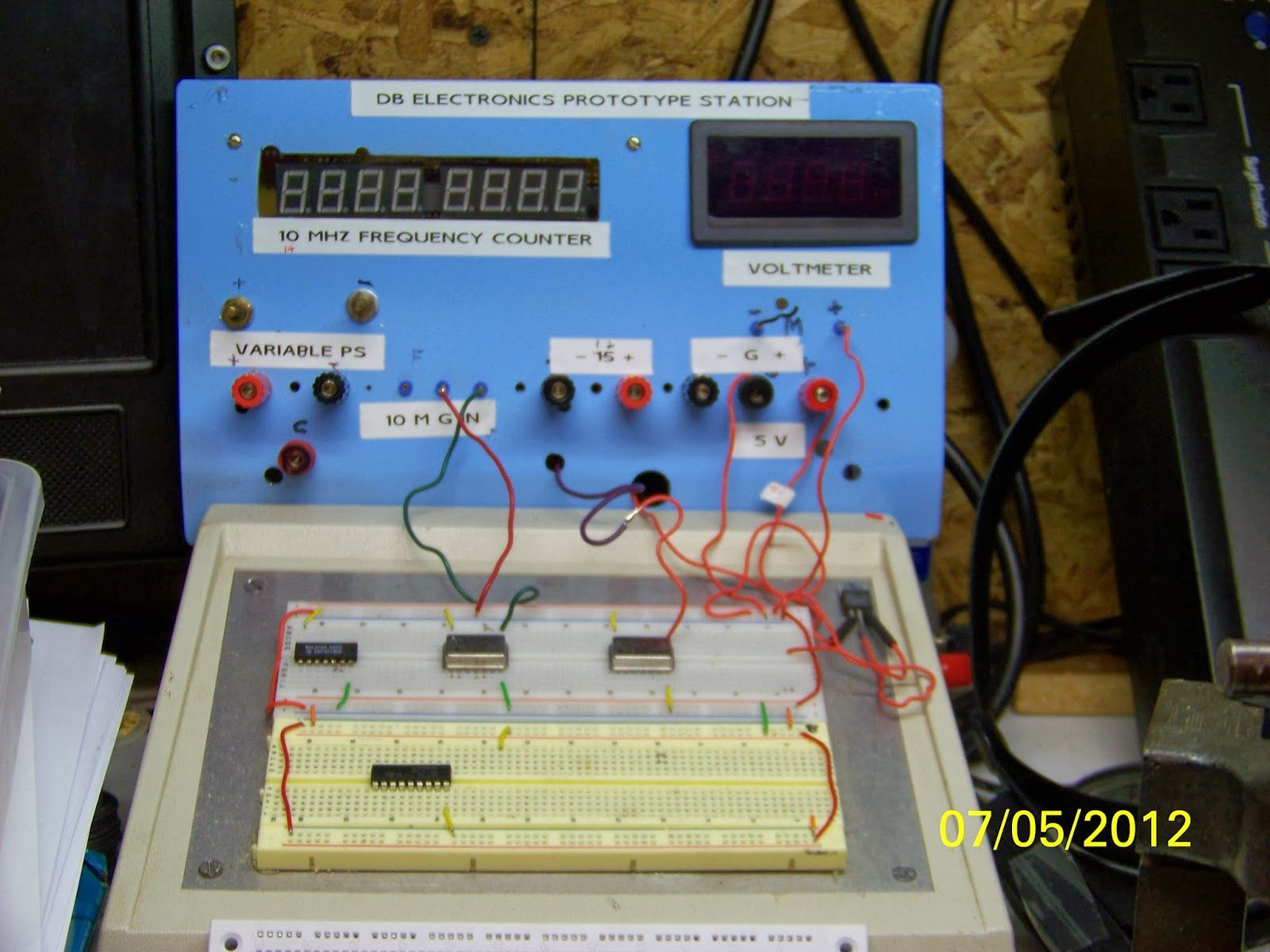 Prototype Station Electronic Projects Pinterest Electronics 10mhz Frequency Counter Circuit