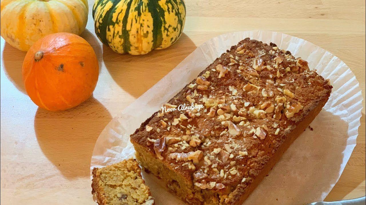 خبز اليقطين كيتو لو كارب حساسية القمح والسكري Keto Pumpkin Bread Food Banana Bread Desserts