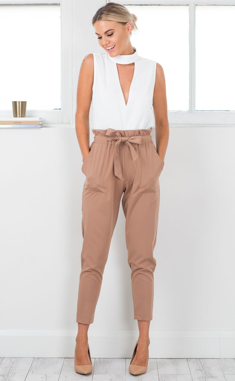 6c846b1d744 Showpo - Work up pants in camel (Available also in black