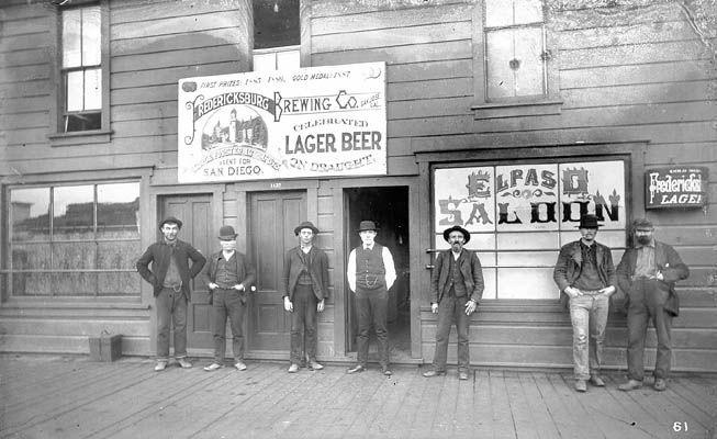 California Photo ca 1899 Randsburg Men in Saloon
