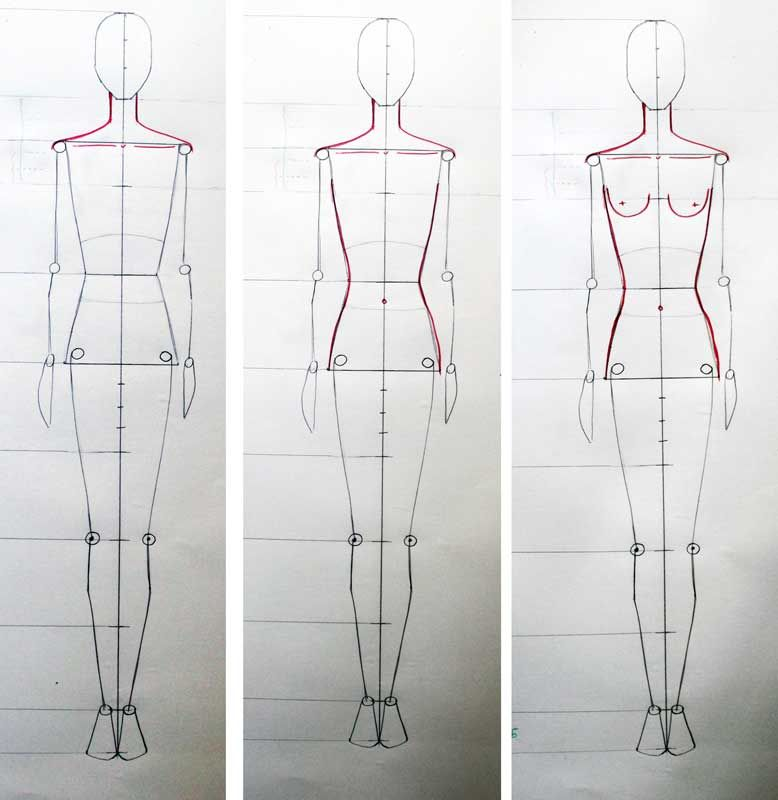 How To Draw Fashion Figure Step By Step Tutorial For Beginners Fashion Figure Drawing Fashion Drawing Tutorial Fashion Illustration Tutorial