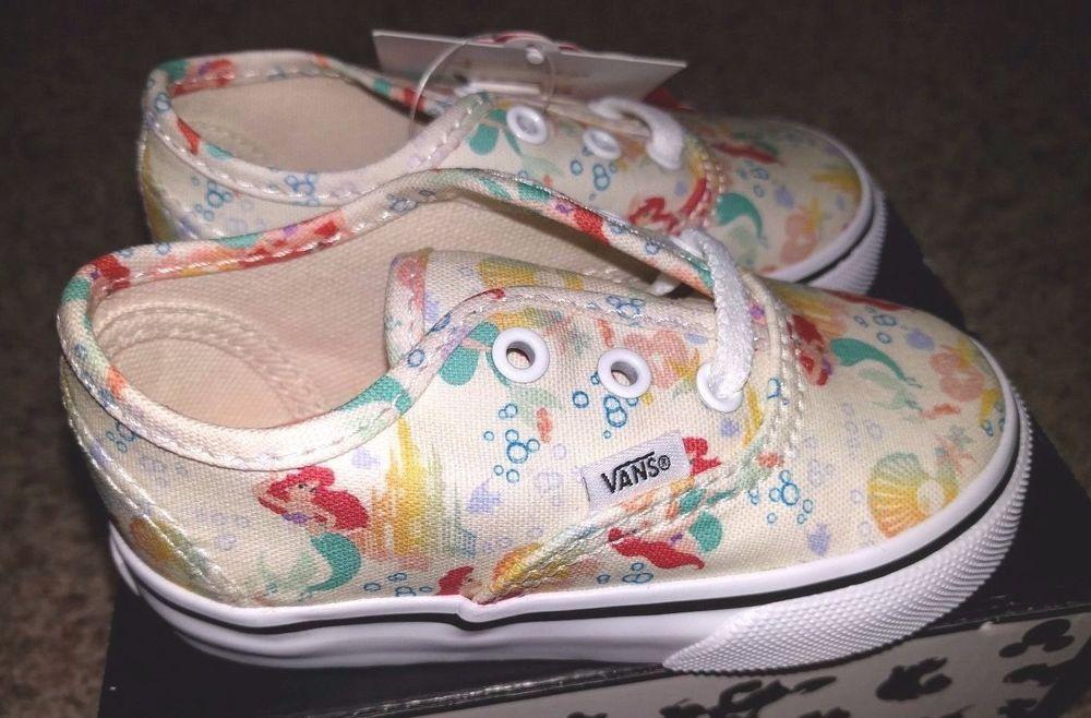 de198979eb Vans x Disney Authentic Ariel The Little Mermaid Princess Toddler Baby  Shoes 6  VANS  WalkingShoes