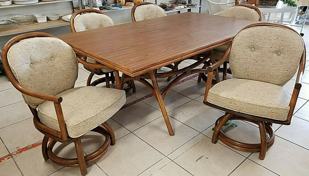Vintage Classic Rattan Inc Of Ky Mid Century Modern Dining Set