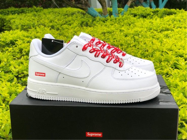 Nike Air Force 1 Low Supreme White For Sale In 2020 Nike Air Force Nike Air Air Force 1