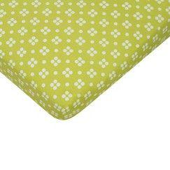 Sumersault Mix & Match Lime Quad Crib Sheet