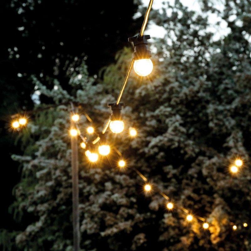 Guirlande Guinguette 10 ampoules LED E27 blanc chaud professionnelle