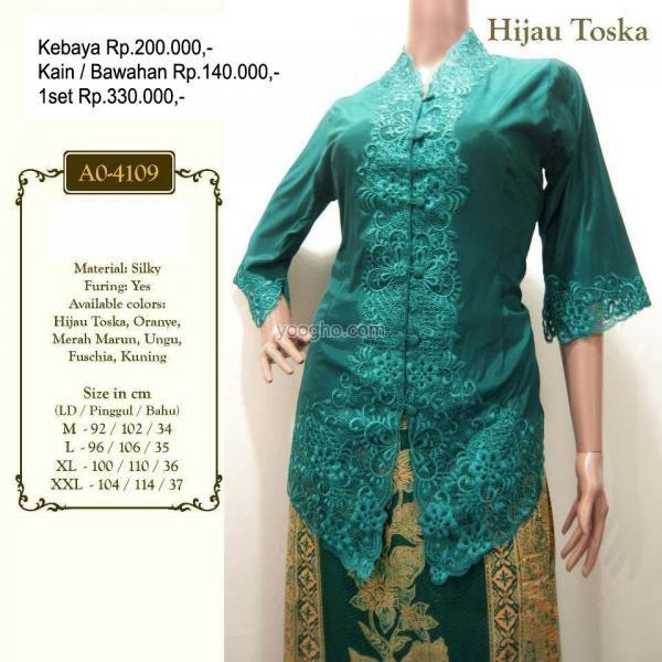 Kebaya Encim Lengan 3 4 A0 4109 Fashion Kebaya Dresses Medan