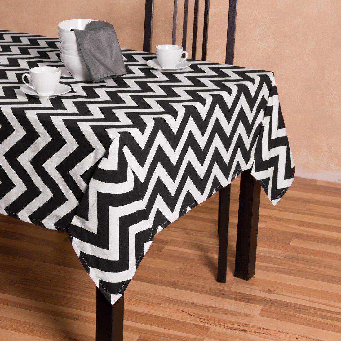 Turquoise U0026 White Rectangular Cotton Trellis Tablecloth